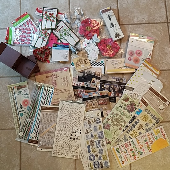 Huge Craft lot! Paper Rub Ons & More